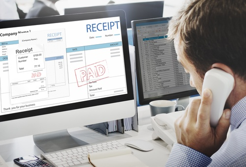 Accounts Payable Invoice Scanning & Electronic Storage on a computer screen