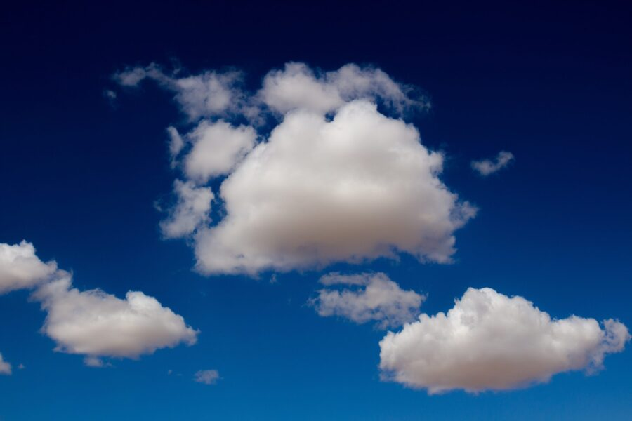 Clouds with a blue sky