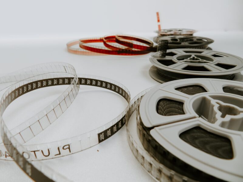 Film reel partially unspooled